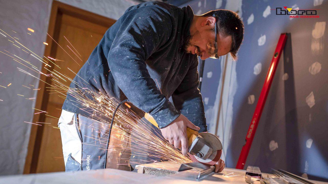 Horn Stuckateure Maler Trockenbau Ottenhoefen Unterkonstruktion Hobbyraum 04